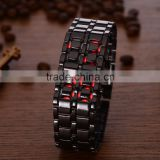 R1048 Wholesale LED Blue And Red Light Bracelet Wrist Mens Watch, Lava Metal Watch For Mens
