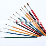 12 pcs Factory Wholesale Cheap Bulk Bristle Hair Round Liner Artist Paint Brushes Pen set