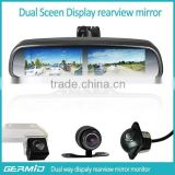 hot sale 4.3 inch GERMID multiple display rear view mirror with backup camera display for trucks.convinient with trucks