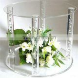 clear acrylic hanging crystals cake stand