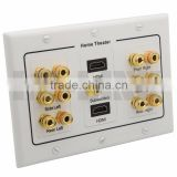 6.1 Surround Speaker sound box Wall Banana Post Face Plate with 2 HDMI Ports support DIY