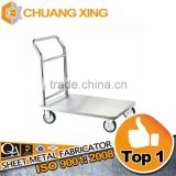 wholesale machining stainless steel tray rack trolley, stainless steel bakery trolley