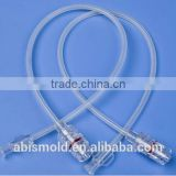 Higher pressure plastic medical extension braid tube