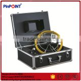 Endoscope pipe inspection camera with 50m cable and meter counter , waterproof pipe camera