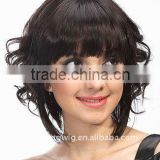 Wholesale new synthetic short afro curly hair style full lace wigs for black women