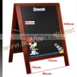 Double side black Chalkboard/Pavement sign frame