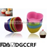Cupcake Liners Cake Mold Muffin Cups Soap Mold Pudding Jelly Cube Heart Shapped Silicone Baking Cups