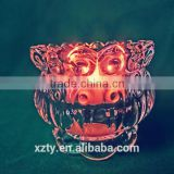 100 ml Lotus Lotus Lotus Shaped Recycled Crystal Wax Empty Container Decorative Candle Holder
