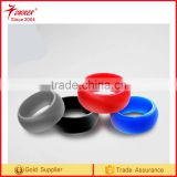 comfortable rubber rings &safe silicone wedding band