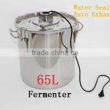 Large Capacity ! 65L Household Stainless Steel Water Seal Thermostatic Wine Fermenter Constant Temperature Fermentation Tank