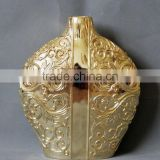 Golden galvanized decorative vase