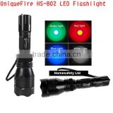 UniqueFire HS-802 Long range 1 mode Green Led Flashlight for Rifle Hunting