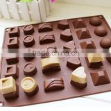 Christmas Chocolate Molds,Fancy Silicone cake mold 30 Cavity Multi Shaped Candy Jelly Ice
