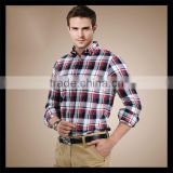 Overseas wholesale suppliers sale polyester cotton long sleeve plaid shirt for men