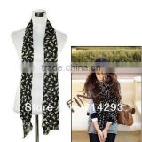 New Fashion Chiffon Colorful Sweet Cat Pattern Women's Long Scarf Neck Wrap Shawl 9336