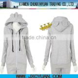 fashion blank ear hooded cotton sweatshirt with ears for women and girls multi colors