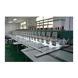 1200RPM flat bed High speed 24 heads Embroidery Machines with Dahao 366 8\