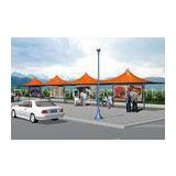 Colorful Steel Sun Shelter Canopy Outdoor Tent Canopy For Bus Station Resting
