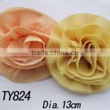 headband flower 13cm quality diy Fabric artificial flowers for garments shoes hats brooches hair ornaments accessories