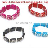 Carved bone jewellery, color bracelets, discount jewelry from Tibet