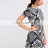 Latest Design For Girls Slim Fit Skater Dress In Scarf Print With Open Back Evening Dress