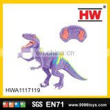 New design infra-red remote control animal plastic dinosaur toys for kids with sound & light