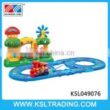 Multifunction learning piano train track toy for good sale