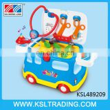 Doctor toy kit vehicle toy with light and sound for children