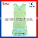 Healong Wind Proof Thermal Transfer Printing Wholesale Tennis Clothing