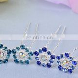 Snow Blue Crystal Wedding U Shaped Hair Pins