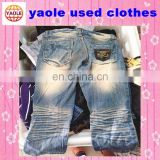 second hand clothes 3/4 jean pants used clothing from usa