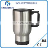 Sublimation Silver stainless steel mug