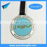Metal Golf bag tag with custom logo/ metal bag tag with leather strap