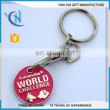 Metal trolley keychain coin for supermarket trolley