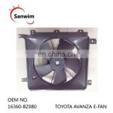 TO-YO-TA AV-AN-ZA Radiator & Condenser E-FAN' OM 16360-BZ080