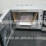 Stainless Steel Electric Toaster Oven with Convection and Rotisserie Function, Indicator Light, 1200W+500W Hot Plate