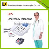 old people alarm phone emergency call for help with wrist/pendant panic buttons waterproof