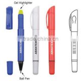 Gemini Pen Highlighter Yellow Gel Crayon Ink and Black Ball Pen 2 in 1 Customized Gift