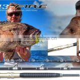 China high quality carbon fiber fishing tackle light boat rod