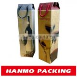 grey paperboard glossy lamination foil stamping folding box for wines, champagnes and spirits packaging