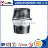 Galvanized malleable casting gi nipple pipe fitting