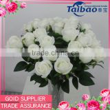 Cheap price Tianjin factory long stem silk rose wholesale for valentines's day