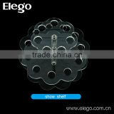 Elego in stock clear acrylic e cigarette display stand with different shape to choose from