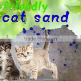 Hot sales,free samples,micro-pored white silica gel with purple irregular cat litter,crystal cat sand, kitty litter