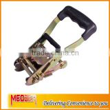 2inch rubber coated handle ratchet buckle for tie down strap
