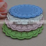 new design promotion silicone cup mat,custom tea cup coaster, transparent silicone coaster