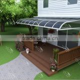 Easy to assemble outdoor caravan window awning/shade Canopy with aluminium and polycarbonate sheet