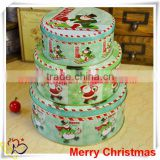 China Alibaba wholesale silver metal tin box/colorful tin container/christmas round tin box