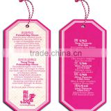 garment accessories cheap paper hang tags accept custom order