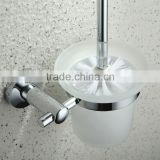 toilet brush and holder set Bathroom chrome Toilet Brush Holders With Cup Bathroom Accessories